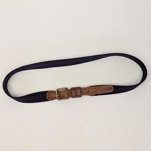 Coach Vintage Wool and Leather Purple Belt